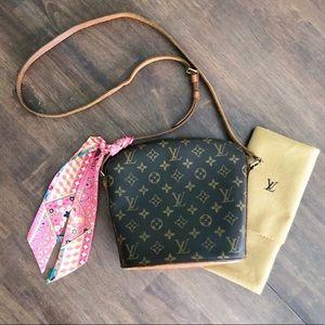 Authentic Louis Vuitton Drouot Crossbody Handbag